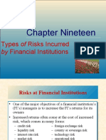 Chapter 19 of risk management  type of risk faced by financial institution