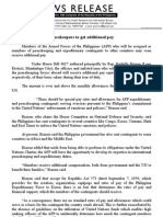 NR # 2415B MAY 25, 2011 Peacekeepers to get additional pay