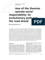 A Review of the Theories of Csr