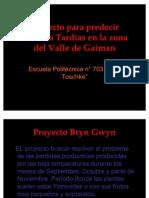 Proyecto para predecir Heladas Tardías en la zona
