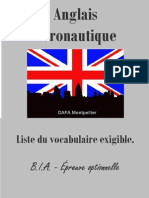 BIA - Anglais aéronautique, liste du vocabulaire exigible (31 pages)