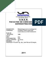 Programa Metodología  - FCAD 2011