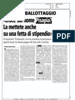 """""""Croce sul nome di Pisapia? La mettete anche su una fetta di stipendio"""", Il Giornale, 28.05.2011"""