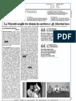 """""""La Moratti sceglie tre donne in carriera e gli Albertini Boys"""", Il Giorno, 28.05.2011"""