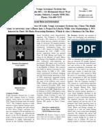 VAV VengaAerospace10 CEOCFO Article