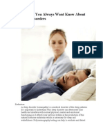 Sleep Disorders -Something You Always Want Know About