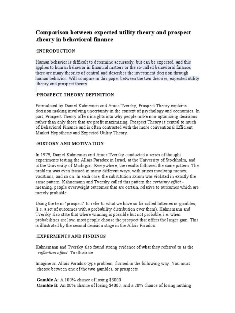 utility theory in economics pdf