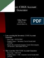 INV COGS Account Generator