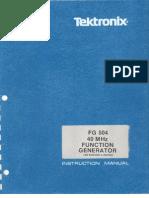 TEK-FG504 40 MHz Function Generator