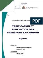Economie de Transport