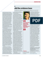The Reality of Evidence Based Medicine