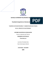 Dise%c3%b1o de Revestidores y cementaci%c3%b3n del pozo ESPOL X1-D