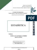 Estadistica 2011 - Colegio Universitario Instituto Superior Maria Justo Moyano de Ezpeleta