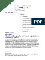 Install SSL in IIS