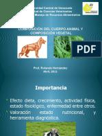 Composicion Del Cuerpo Animal 2011