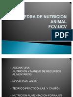 Nutrición y Manejo de Recursos Alimentarios