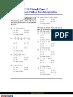 CSAT Basic Numeric Skills Data Interpretation Quantitative Sample Paper 5