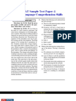 CSAT English Language Comprehension Skills Sample Paper 5