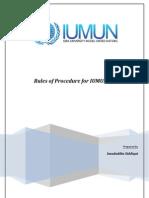 IUMUN'11 Rules of Procedure