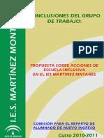 23. Comisión para el reparto del alumnado de nuevo ingreso (IES Martínez Montañés)