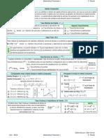 Fórmulas para el Segundo Parcial de Matemáticas Financieras I EECA UCV