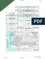 Fórmulas para el Primer Parcial de Matemáticas II EECA UCV