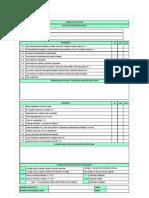 Lista de Verificaciones de Andamios