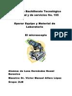 EL MICROSCOPIO  (INVESTIGACION)