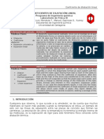 Informe Coeficiente de Dilatacion Lineal 3 Corte
