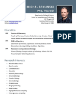 Michal Brylinski's CV