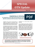 OTN Special Update (Capitalizing on Advantage – EU-Central American Agreement with the CF-EU Economic Partnership Agreement )