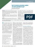 Expectant Management of Preterm Premature Rupture