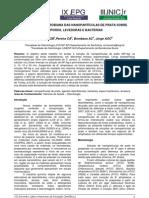Eficácia antimicrobiana das nanopartículas de prata sobre esporos leveduras e bactérias