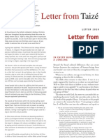 English Letter from Taize 2010