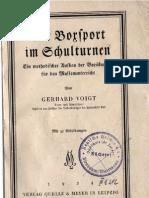 Der Boxsport Im Schulturnen Von Gerhard Voigt(1934)
