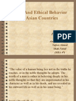 VALUES and ethical behavior in asian countries