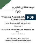 16407878 Warning Against Riba Usury Transactions