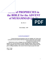 Series of Prophecies in the Bible for the Advent of Muhammad Pbuh