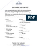Course Outline for Tally Solutions