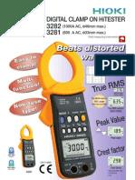Digital 1000 Ampere AC Clamp Meter HIOKI 3282