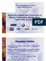 Automotive Waste Heat Conversion