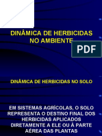 Dinâmica de Herbicidas no Solo
