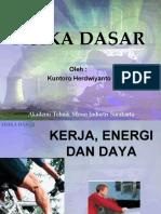 1. Kerja Dan Energi