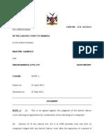 Kambulu M v Engen Namibia Pty Ltd. Judg. LCA J 27 May 2011