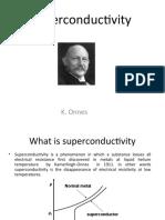 Superconductivity - 1