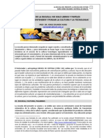 04. LA ESCUELA DEL FUTURO + NO SOLO LIBROS, SINO TECNOLOGIA