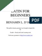 Curso de Latin Antiguo Para Principiantes