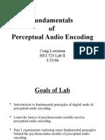 Fundamentals of Perceptual Audio Coding