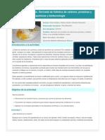 Química en la cocina. Derivada de hidratos de carbono, proteínas y lípidos, reacciones químicas y biotecnología