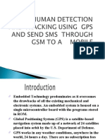 Live Human Detection and Tracking Using Gps and Send Sms Through Gsm to a Mobile
